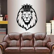 Vinyl Decal Lion King with Crown Lion Head Animal Removable Wall Sticker 2433