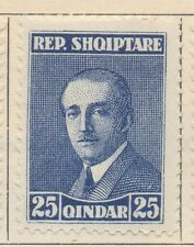 ALBANIA;  1925 early Hoxha issue Mint hinged 25q. value