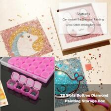 28 Grid Jewelry Box Craft Diamond Embroidery Crystal Bead Organizer Storage Case
