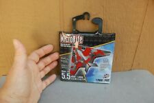 "Micro Kite Stealth NIP Mylar Miniature Mini 5.5"" Handle, String, Sky Tails Toy"