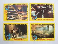 SBS Lot 4 images vignettes cartes Gremlins 1984 vintage card Warner Bros
