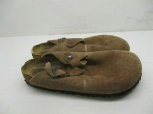 BIRKENSTOCK Women's Size 6 Slip On Comfort Brown Leather Slippers