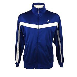 Men's Dri-Fit Air Jordan Blue Loose Fit Basketball Track Jacket Large Jumpman
