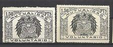 1615--2 sellos fiscales formato diferente MUTUALIDAD VOLUNTARIA,GRAN SELLO,SPAIN