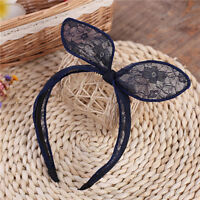 Bunny Ear Bow Alice Band Headband Lace Hair Women Design Party Wire Convertable