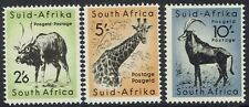 SOUTH AFRICA 1954 ANIMALS 2/6 5/- AND10/- MNH ** WMK SPRINGBOK SIDEWAYS