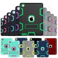 Kids ShockProof Armor With Built In Kick Stand Case Cover For iPad 2 3 4 Air 1 2