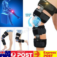AU 120° Adjustable Hinged Knee Brace ROM Post-Op ACL PCL Injuries Osteoarthritis