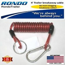 Trailer breakaway cable 4' all trailer w electric brakes Coiled cable won't drag