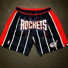 100% Authentic Just Don Mitchell & Ness Rockets Short Size XL Mens james harden