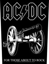 AC/DC - Rückenaufnäher Backpatch - For those about to rock BLACK