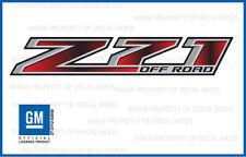 set 2 - Z71 Off Road GMC Sierra 2014-2018 Decals Stickers Fade Red Black GRBLKRD