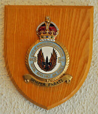 613 Squadron Royal Auxiliary Air Force mess plaque with King's crown shield RAF