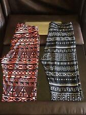 Lot Of 2 Ladies/Juniors Leggings Size XS/S Multicolor