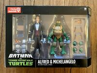 Alfred & Michelangelo Batman vs. TMNT Ninja Turtles Figures Set New DC Gamestop