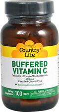 Con vitamina C, 500 MG, 100 Tabletas-Country Life