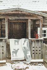 Blanket Throw Bed Sofa Fleece Cozy Plaid Soft Warm 100% Wool 130x200cm Moose