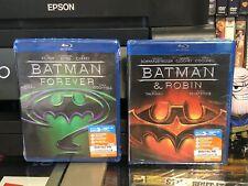 Batman Forever / Batman & Robin (Blu-Ray) 2 DISC! Val Kilmer, George Clooney NEW