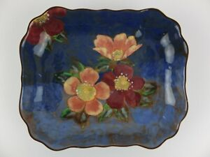 Vintage ROYAL DOULTON Hand Painted Wild Roses D6227 Decorative Bowl