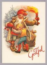Lars Carlson Christmas Tomten Hugs Boy Vintage Postcard