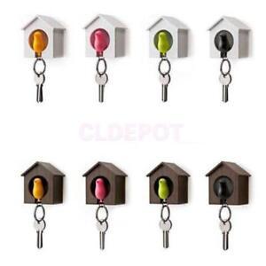 Sparrow Bird House Nest Whistle Key Holder Chain   Keychain Keyring Hanger