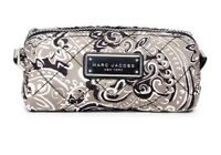 Marc Jacobs Cosmetic Bag Quilted Paisley Narrow Pouch Grey NEW
