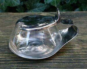 WMF Cromargan Germany Sugar Bowl Spice Container Glass Jar