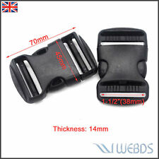 """38mm 1-1/2"""" Side Release Buckle Dual Adjustable Strap Camping Hiking Multy Strap"""