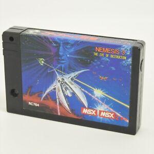 NEMESIS 3 The Eve of Destruction Gofer no Yabo MSX2 Cartrige Only 1341 msx
