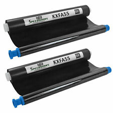 For Panasonic KX-FA55 Black Fax Refill Roll (2-Pack) KX-FP151 KX-FP152 KX-FP155