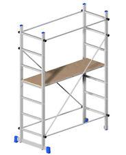 Trabattello h 2.1 Alluminio con Ruote Scala Mobile Ponteggio Bricolage Pittura