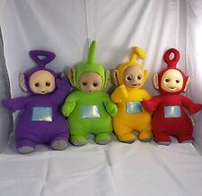 Vintage 4 Teletubbies Tinky Winky Po Dipsy & Laa Laa Plush Talking Dolls 1998