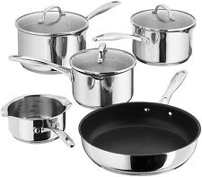STELLAR 7000 5 Pc Saucepan Set 16/18/20cm & Frypan/Milk Pan Draining S7C1D.+GIFT