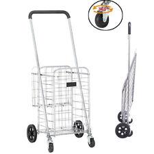 New ListingUtility Shopping &laundry Loading Cart Foldable Jumbo Basket Foldable W/ Wheels