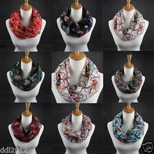Fashion Women Ladies Owl Pattern Print Long Scarf Warm Neck Wrap Shawl Stole