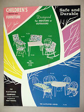 Fletcher Children's Wrought-Iron Outdoor Furniture 2-Pg PRINT AD - 1965