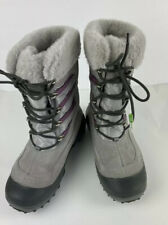 Columbia Slopeside Womens Omni Heat Gray/Berry -25 Winter Boots, Size 7,