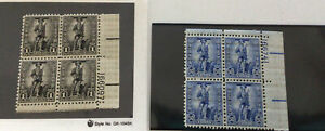 US S4 $1.00 & S3 $0.50 Cent Savings Stamp Plate Block of 4, M/NH
