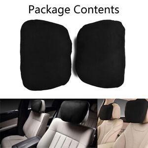 2pcs Car Headrest Maybach Design Ultra Soft Pillow Cushion  For Mercedes Benz