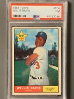 1961 Topps #506 Willie Davis Rookie PSA 7 NM Los Angeles Dodgers High Number