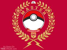 POKEMON PokeMaster League Status EVOLVE OR DIE Pikachu PokeBall TEEFURY T-SHIRT!