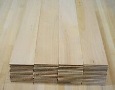 "60 Maple thin boards lumber wood crafts scroll saw work 1/8"" x 2-1/2"" x 13-1/2"""