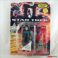 Star Trek Generations Deanna Troi figure with mini movie poster damaged card