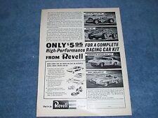 1964 1/32 Revell Vintage Slot Car Kits Ad Lotus Brm Gp Sting Ray Jaguar Xke