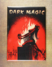 Dark Magic Magnet - Pulp Art from Vintage Book Cover Skull Ritual Occult