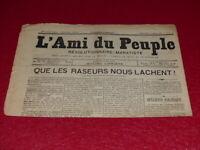 [PRESSE XIXe] MAXIME LISBONNE  L'AMI DU PEUPLE # 9 -2e S. DIM 1er MARS 1885 Rare