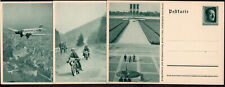 GERMANY EIGHT PS STATIONERY POSTAL CARD 1937 COMPLETE SERIES UNUSED