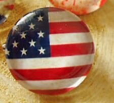2cm Diamter United States Round Usa Flag Brooch Silver Pin Badge Bag Decor Us
