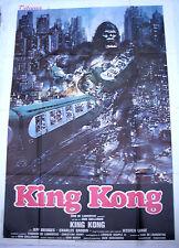 KING KONG manifesto poster AFFICHE OSCAR NEW YORK TRAIN MANHATTAN APE LANGE 4F 1