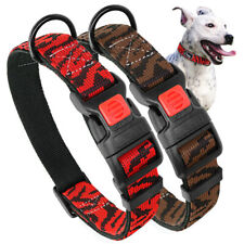 Soft Nylon Pet Dog Collars Safety Buckle Adjustable for Small Large Dogs Brown